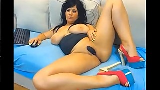 Busty Housewife in Heels Infront of Cam until She C - insanecam.ovh