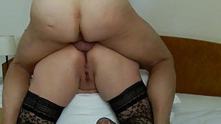 Moaning mature whore gets fucked up the ass