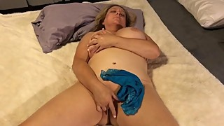 Naked MILF With Big Natural Boobs Fingering Herself - Naughty Homemade Wife
