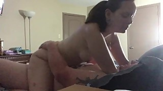 Homemade amateur wife riding cock