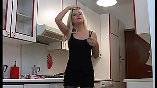 Hot blonde housewife in sexy lingerie fucked by her husband