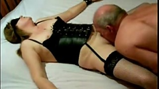 Having fun with my slut slave tied on bed. Amateur homemade