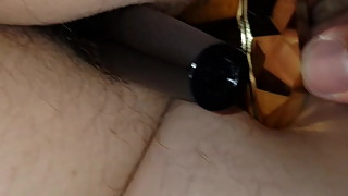 Toy playing hairy wife pussy and ass