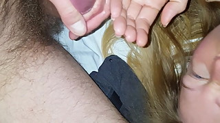 Facial for Chubby Wife, dislike, after sucking my balls