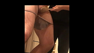 Wife beats the cum out of hubby