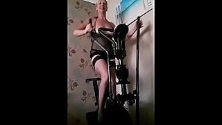 Just Mucking Around On My Cross Trainer With My Loony Husband!