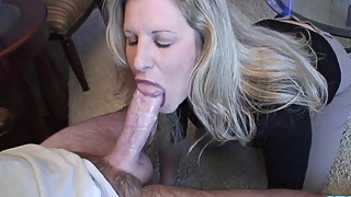 Housewife POV blowjob