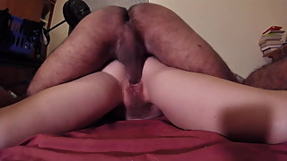 Hairy amateur wife esposa peluda round ass doggy