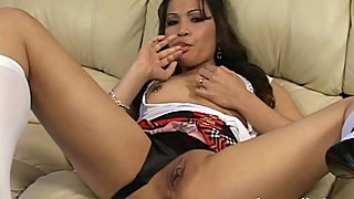 MILF latina housewife self pleasure fingering exgf