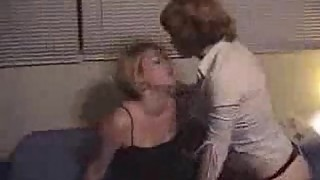 Hot lesbians girlfriends fucking with strapon