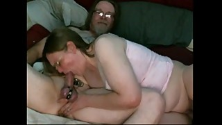 Homemade wife gives head between orgasms