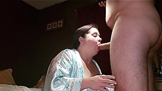 Sexy BBW Sloppy Blowjob