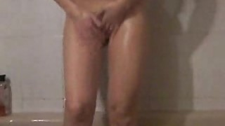 Filming My beautiful blonde wife in the bathroom