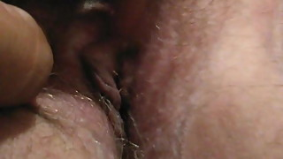 BBW hairy pussy close up wife
