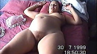 UK wife Esther displays her cunt to a stranger
