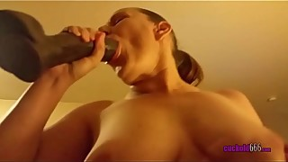 Busty Ex-wife Riding My Cock And Big Fat Dildo