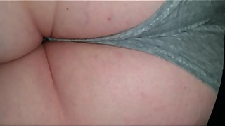 Hubby spies then fucks and cums on my sleeping ass