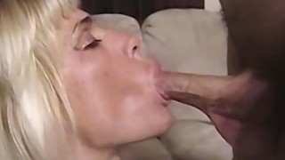 Big tit blonde amateur wife sucking a hard cock in POV