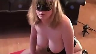 Wife trains on black dildo before she goes BBC