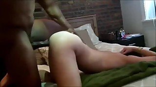 Blonde wife homemade interracial BBC cuckold