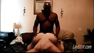 busty BBW wife taking BBC like a slut