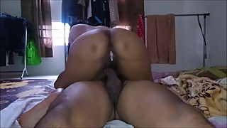 malay wife cowgirl till creampie