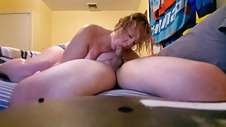Real amateur housewife sucks dick and swallows cum