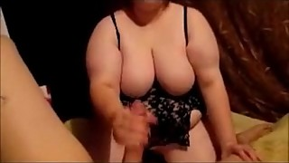 Hot Wife Dress Up Sexy &amp_ Suck Husband Dick &amp_ Swallow A Huge Mouth Full