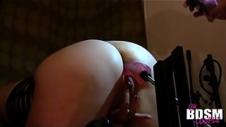 Hot wife gets bent over and Machine fucked