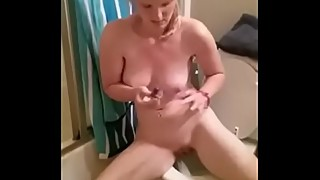 Masturbating In The Bathroom For The Hubby