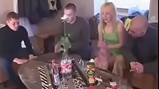 Russian Wife Can'_t Handle so Many Cocks in Homemade Gangbang