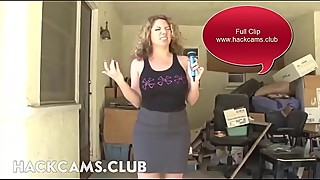 Mom Reporter Strip Live Cam at Work