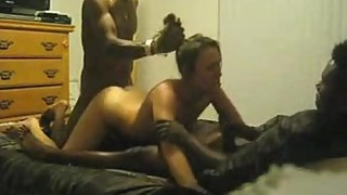 amateur wife with two black guys threesome
