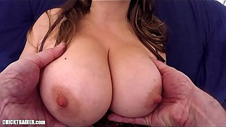 Anal Creampie! Britney'_s Pussy and Asshole covered in Cum, Big Natural Tits &amp_ High Heels. MILF Wife with large Breasts fucked up the Ass and Masturbating.