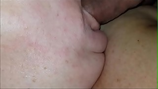 Sleeping wife snores with my cock in her mouth