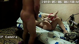Pregnant wife enjoys sex from behind on hidden ip camera
