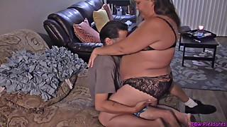 Naughty BBW Housewife Lap Dance
