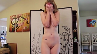 Divorced MILF humiliating striptease video
