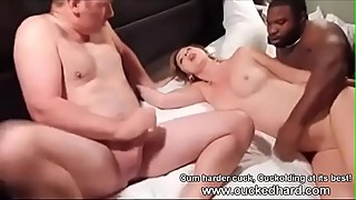CUCKOLDING HOTWIFE GET FACIAL BY BETA CUCKC WHILE BEING FUCKED BY BULL