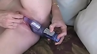 Granny Dildo And Blowjob Action
